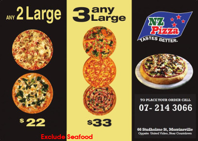 Pizza deals in Morrinsville Waikato