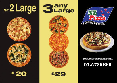 Pizza deals in Te Puke